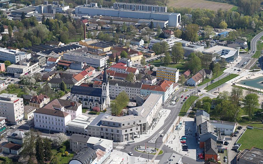 Luftaufnahme Traun Zentrum